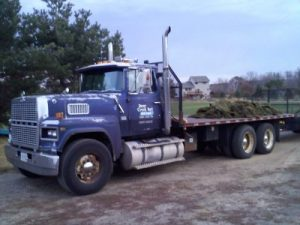 This sod delivery used one of our awesome trucks - deer creek turf