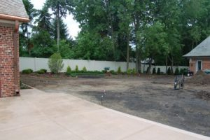 We did this residential yard grading quickly and easily