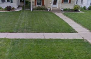 This home needed some new sod installed in St Louis Park
